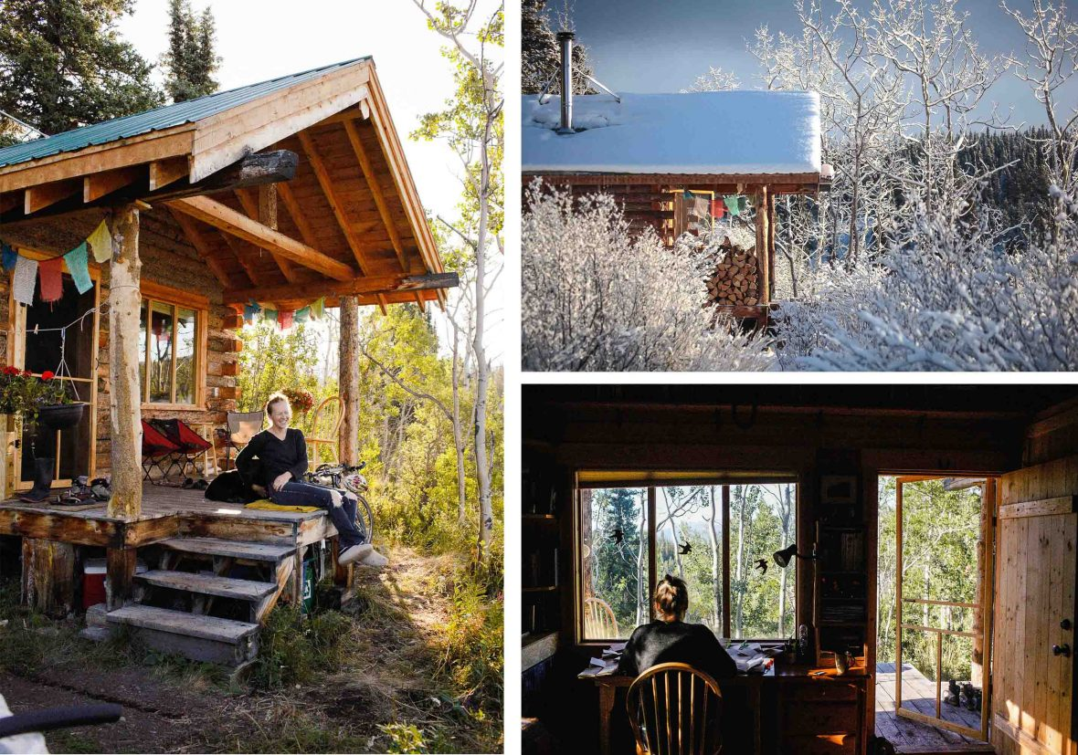 Kate Harris's cabin in Atlin, British Columbia, where she has put down roots.