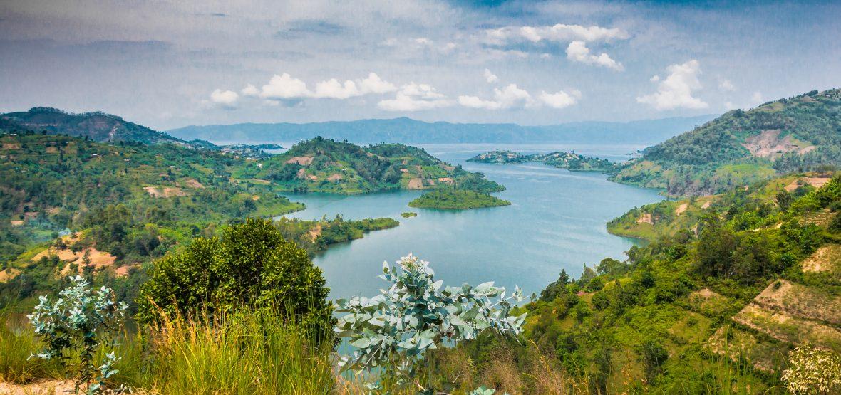 Views over Lake Kivu in Rwanda.
