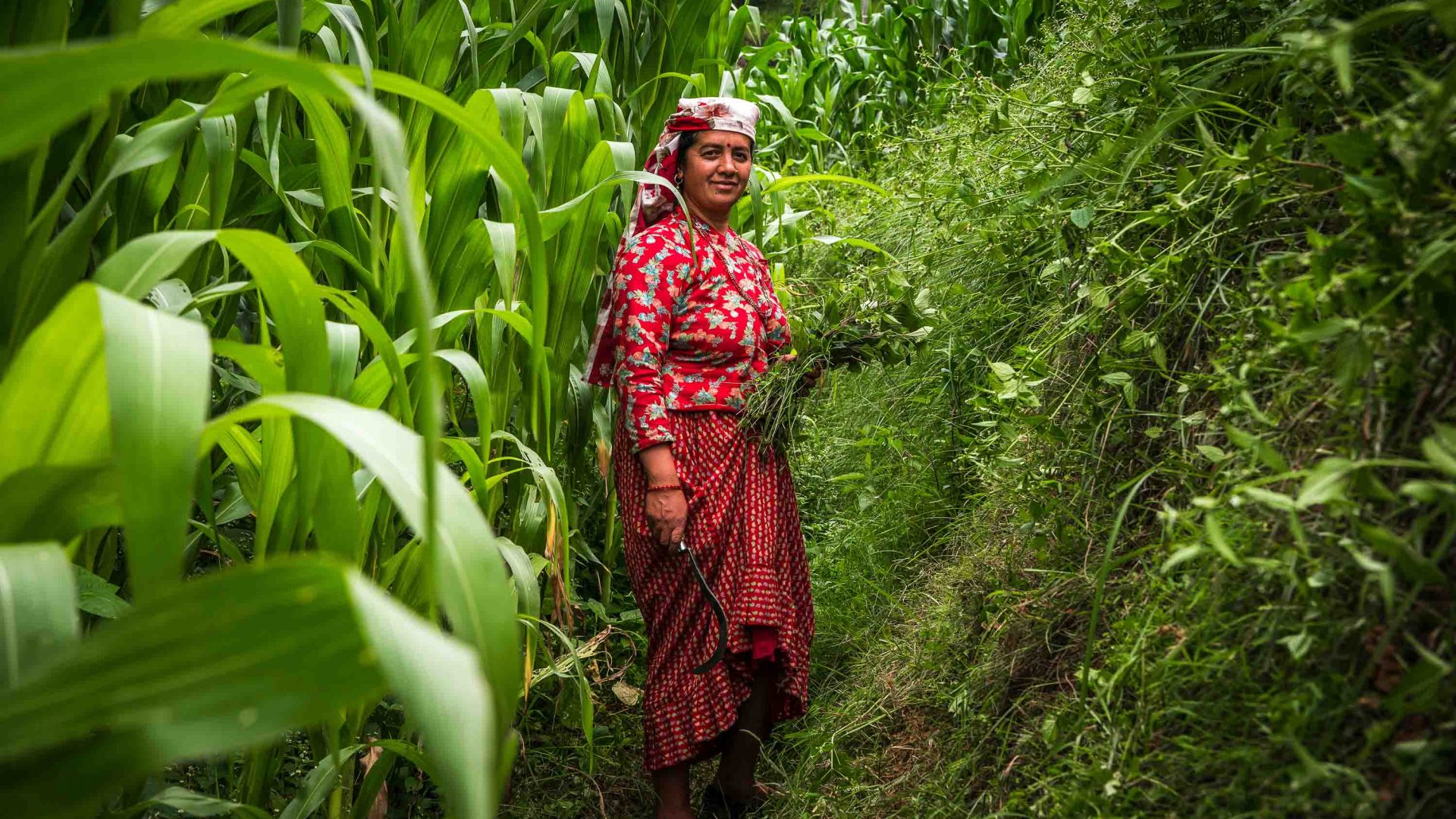 A woman in Panauti, Nepal.