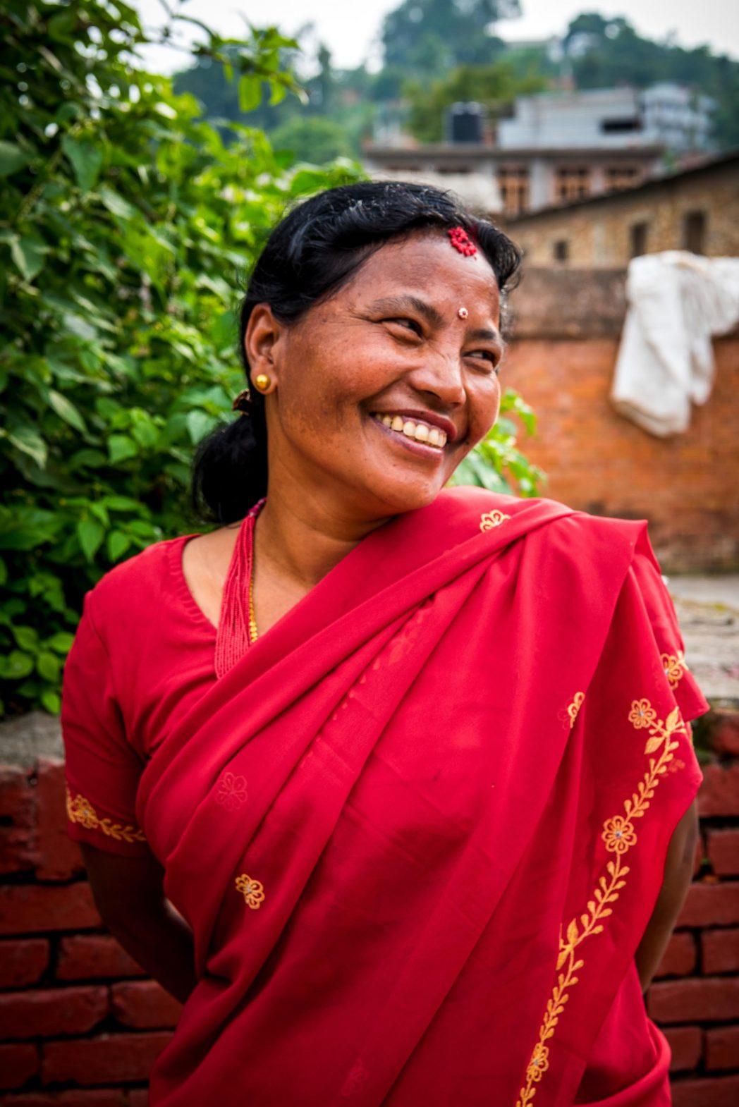 A local woman in Panauti, Nepal.