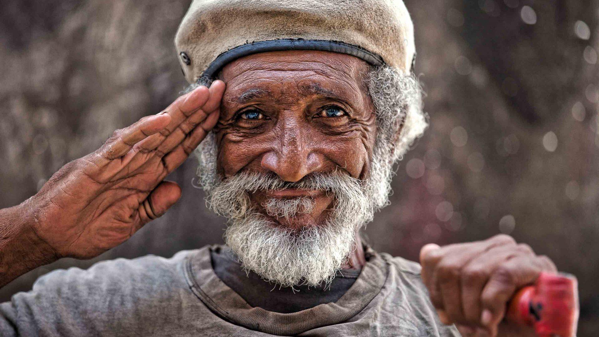 A portrait of a man in Cuba.
