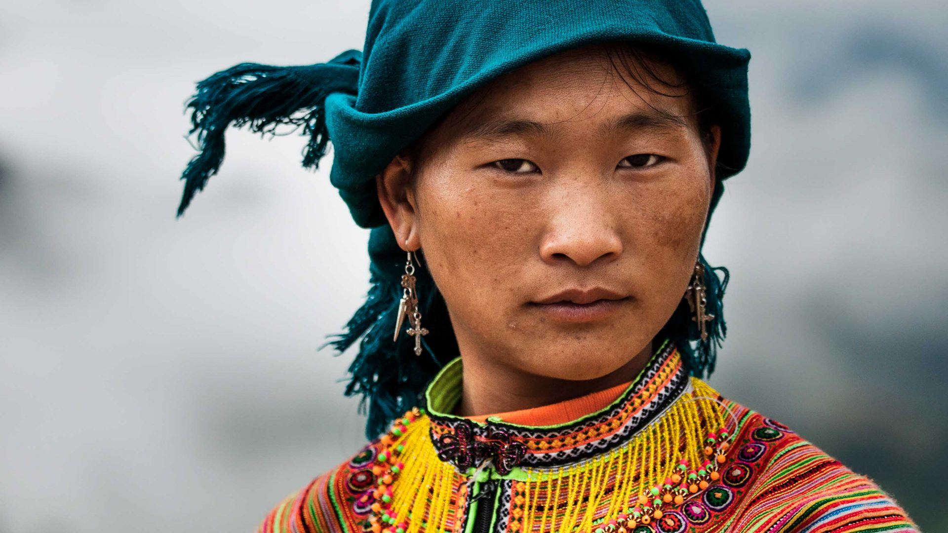 The Hmong in Bac Ha people in Vietnam.