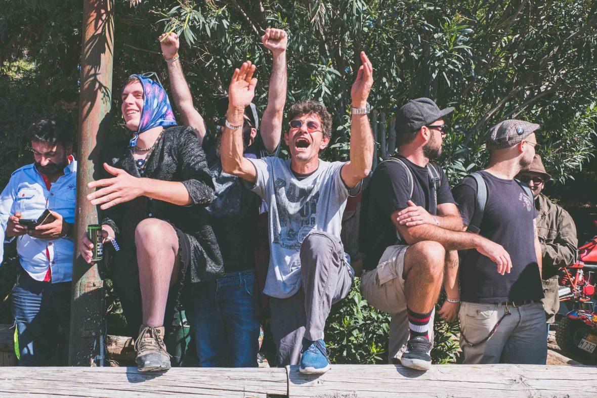 Spectators at The Rotten Race, Greece.