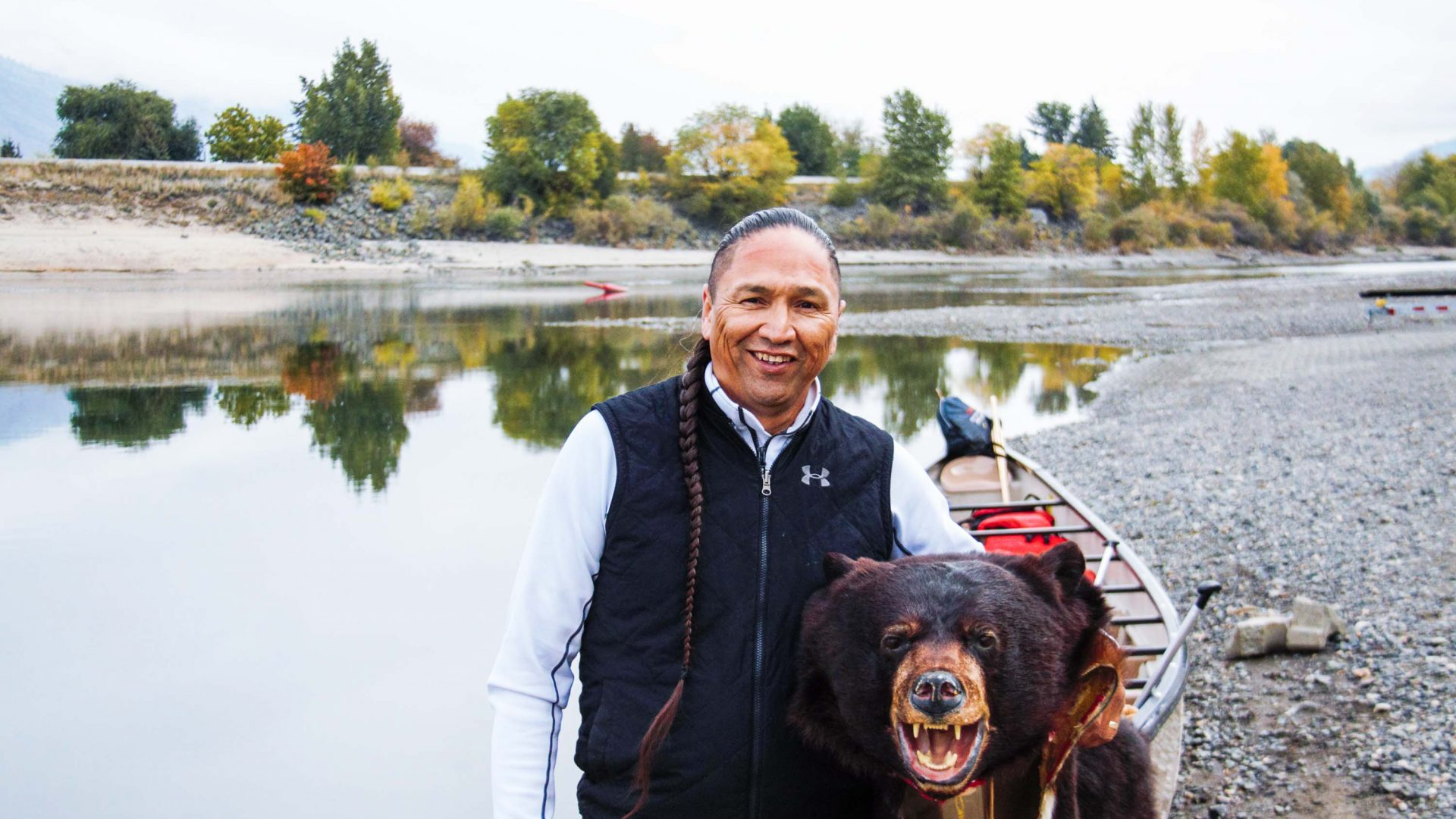 Frank Antoine, an Indigenous guide from the Shuswap Nation.
