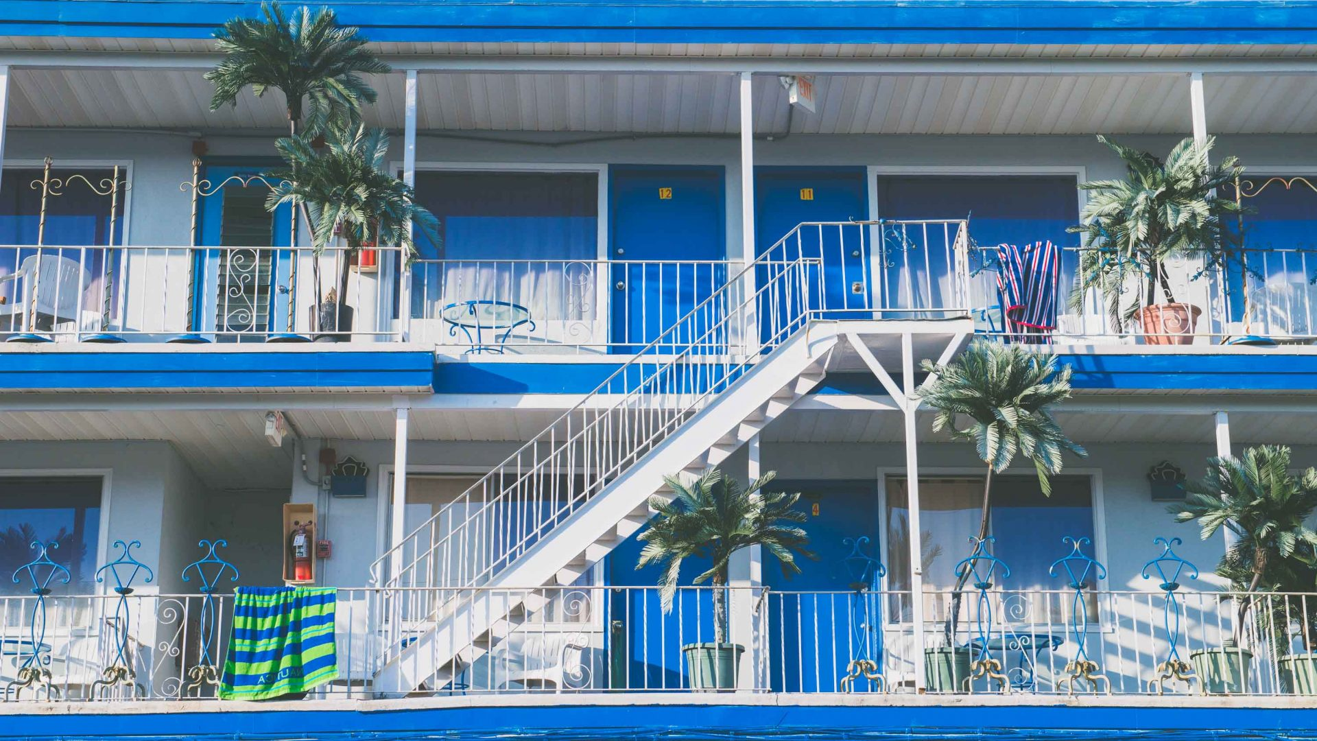 An example of the modern, mid-century motel architecture of Wildwood, New Jersey, many of which were built in the 1950s.