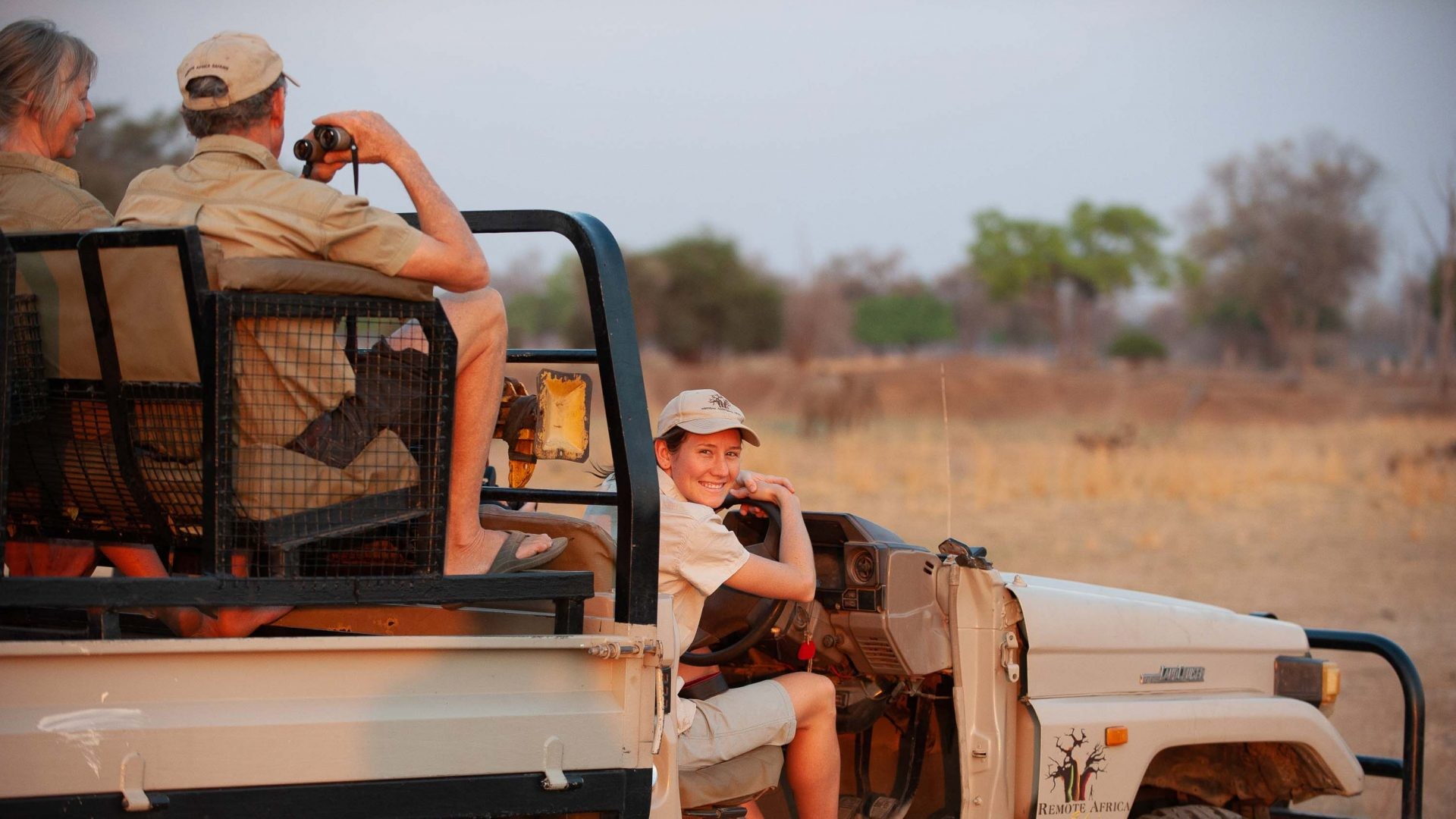 29-year-old guide Jen Coppinger takes tourists out on the jeep.