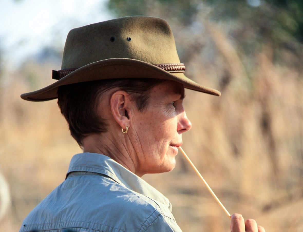 Deb Tittle, walking guide and camp owner in South Luangwa National Park, Zambia.