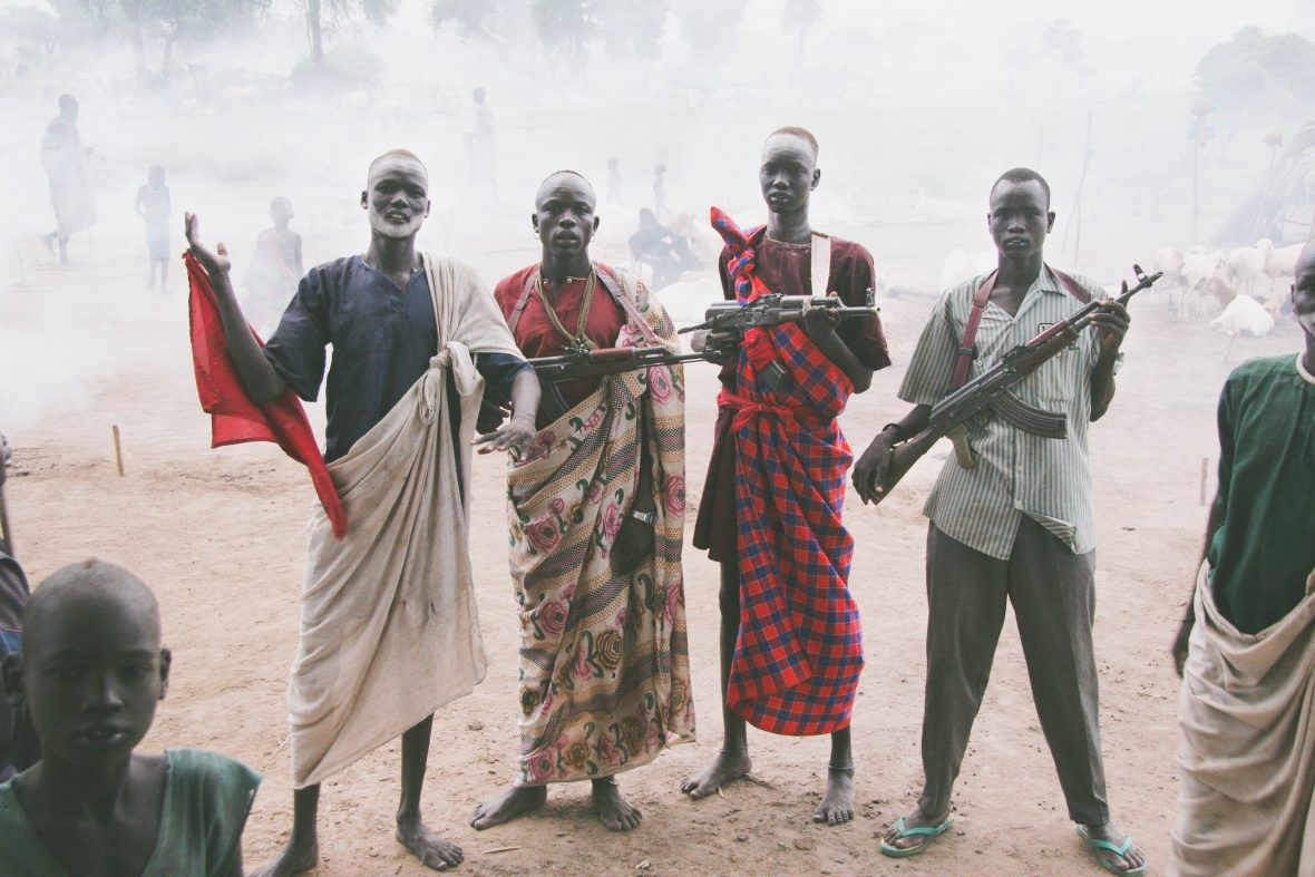 Guns make an appearance in South Sudan.