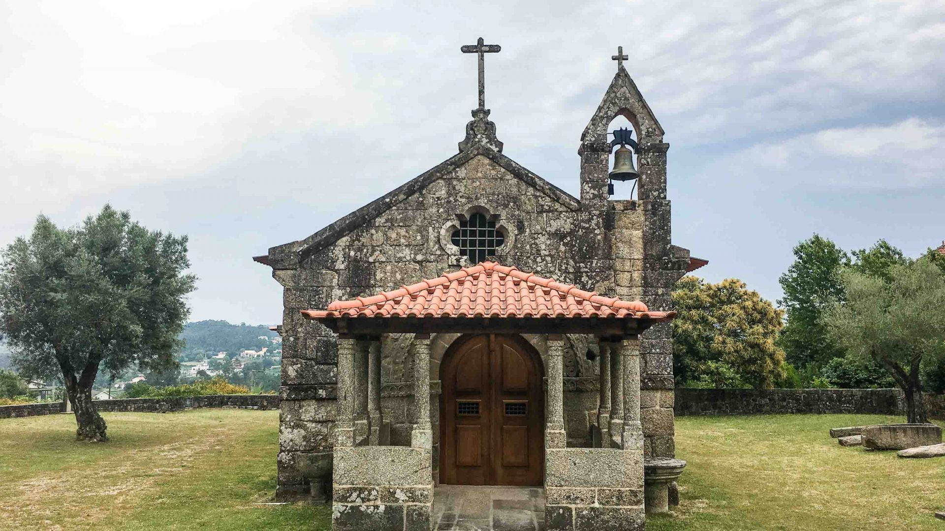 One of the typical Portuguese churches to be found en route.