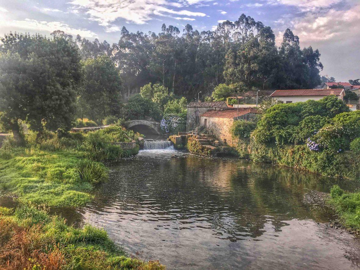 Scenery along the Camino Portugués, an alternate route to Santiago de Compostela.
