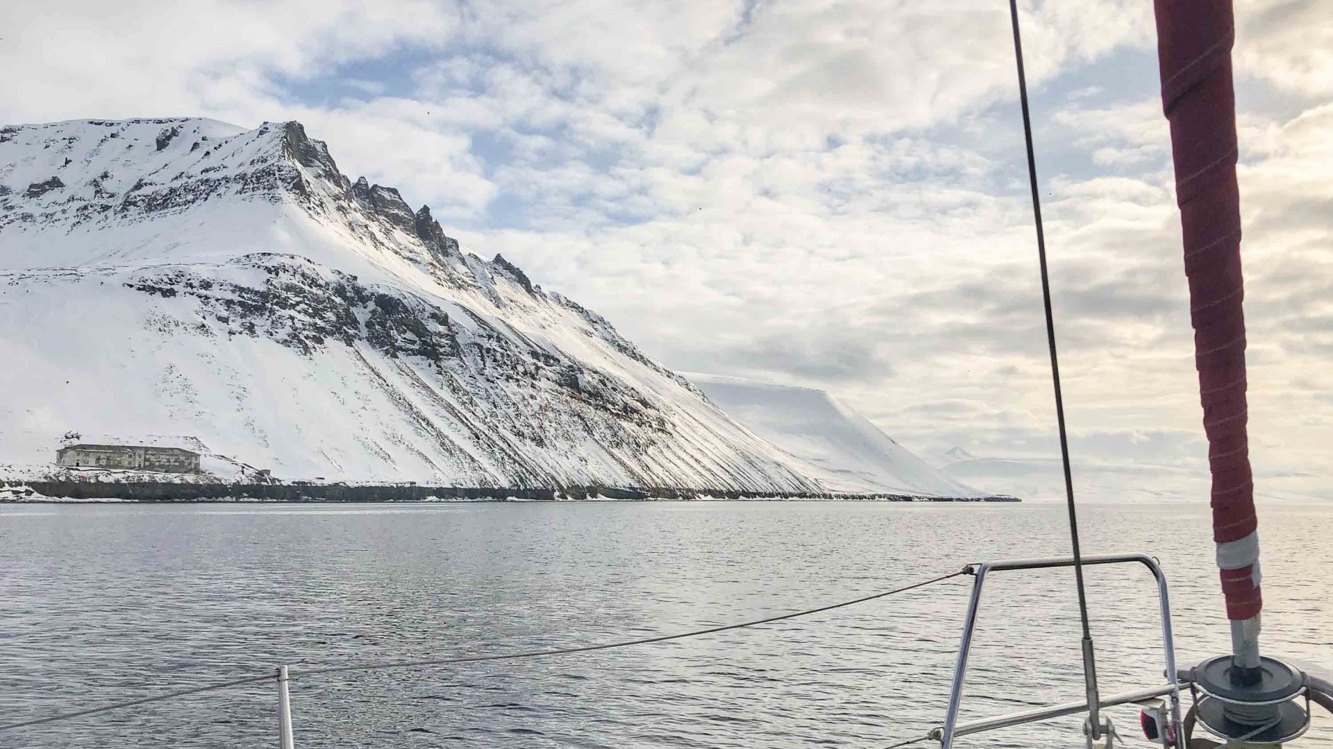 Views near Longyearbyen while out on the open water.