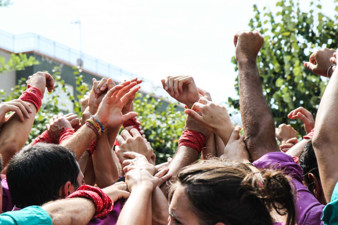 The castellers' craft is a kind of human carpentry, using their own muscle, sinew and bone as tools.