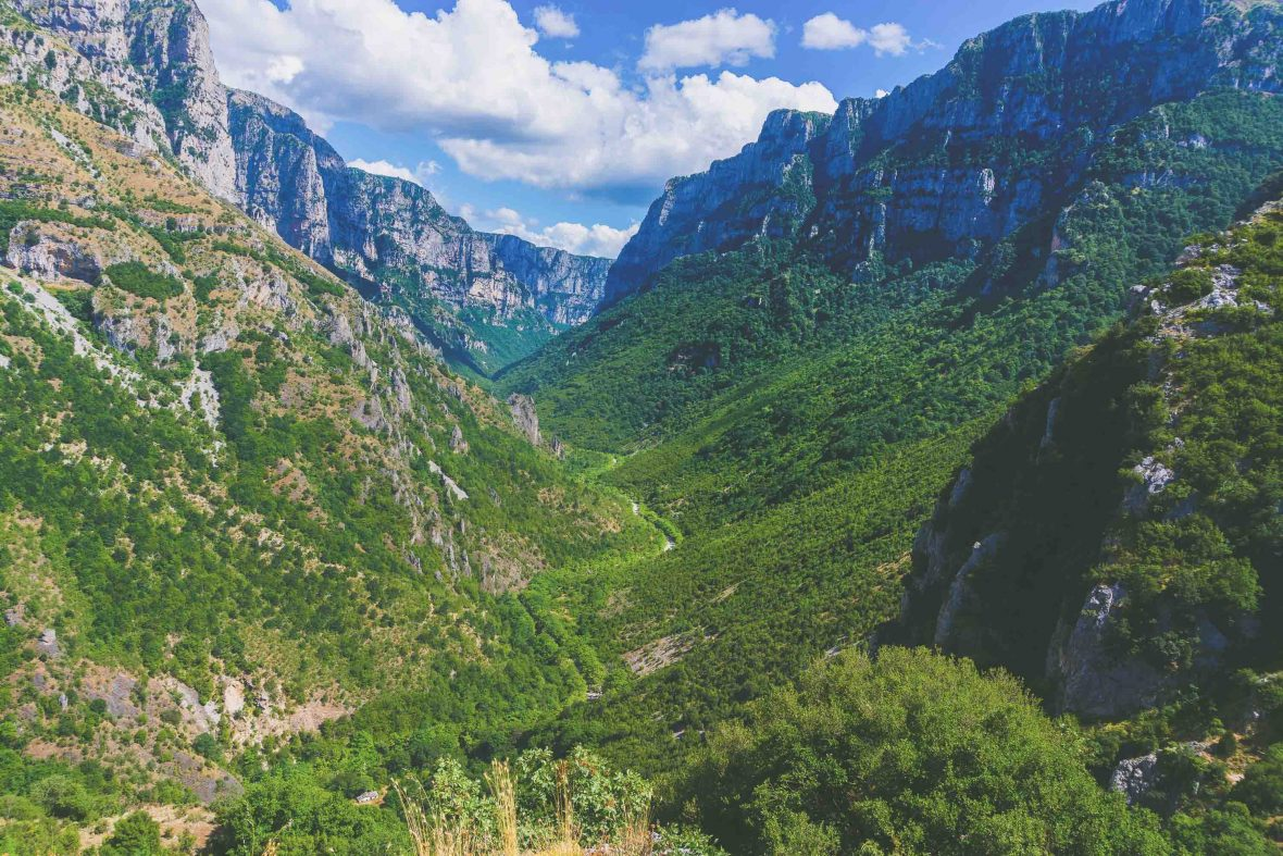 Vikos Gorge in Epirus, Greece.