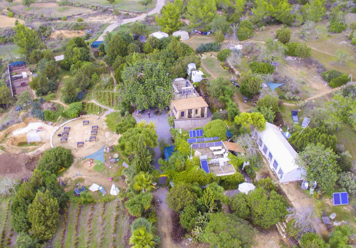 An aerial view over Casita Verde.