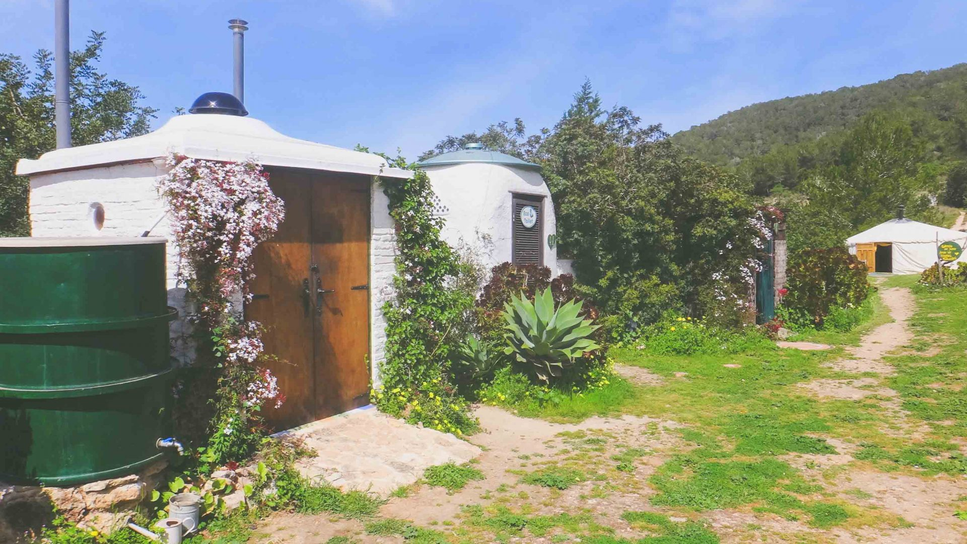 The eco toilet suite at Casita Verde.