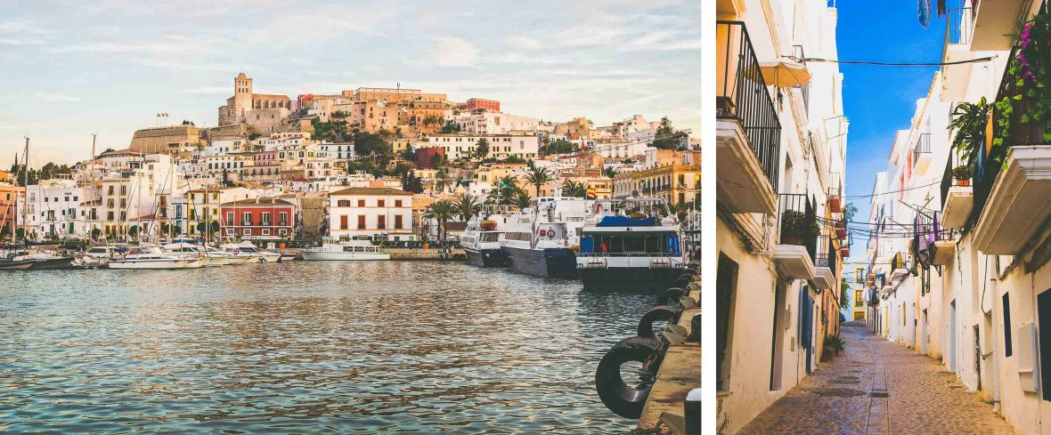 Ibiza may be well-known for its all-night parties, but Ibiza Town is a picturesque place in its own right.