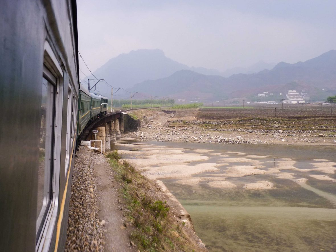 Kim Jong-un's 'Orient Express' travels through the countryside of North Korea.