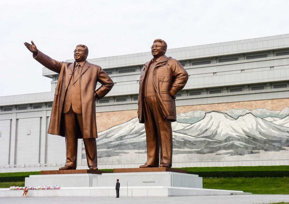 Statues of North Korea's 'Dear Leaders'.
