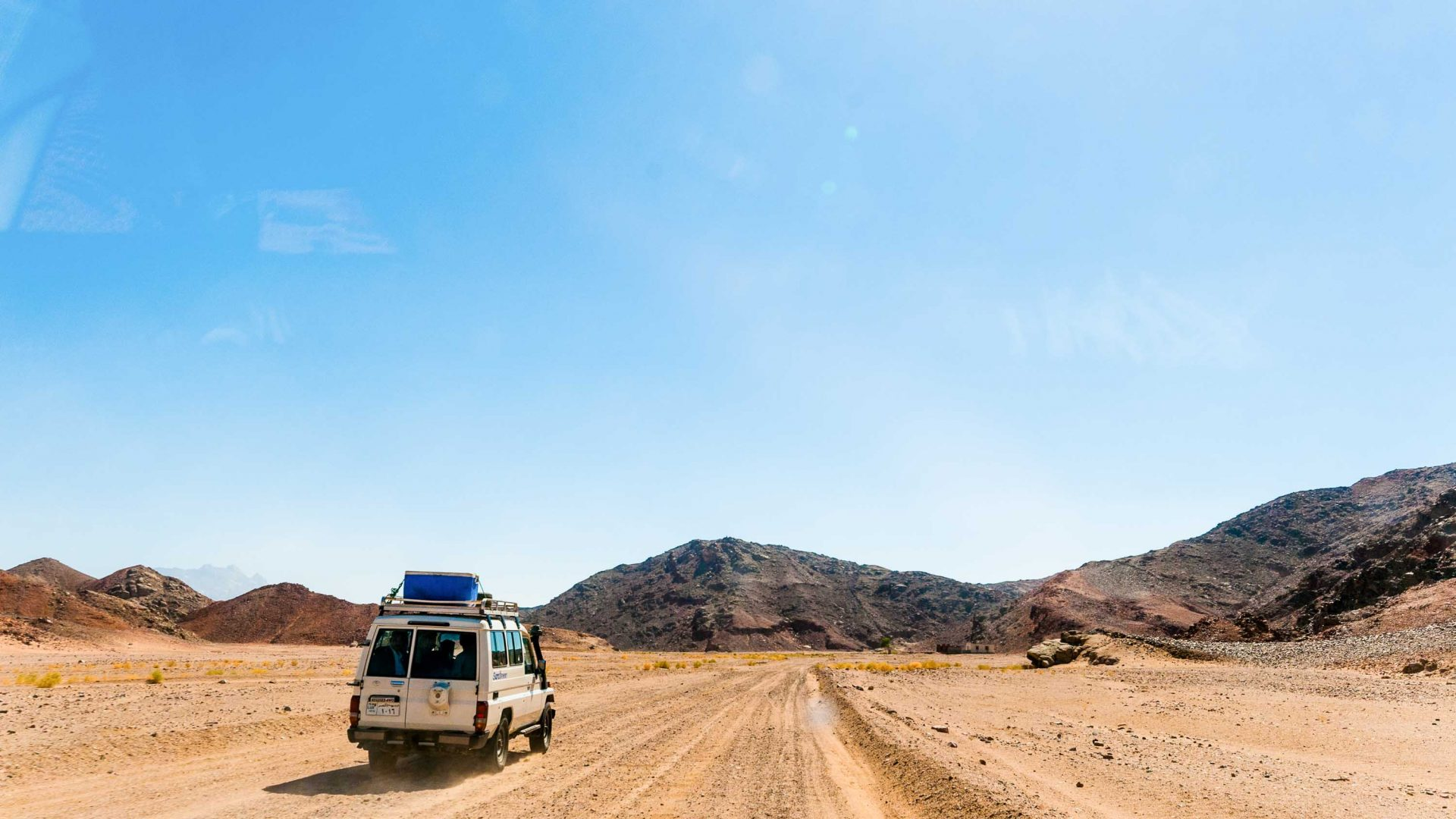 Driving through the Eastern Desert.