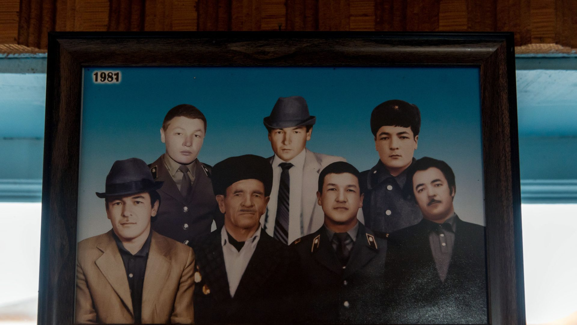 A photo of all six brothers including Narzullo's father (bottom left).