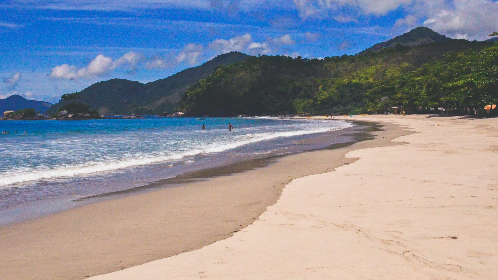 Castelhanos beach in Ilhabela, Brazil.