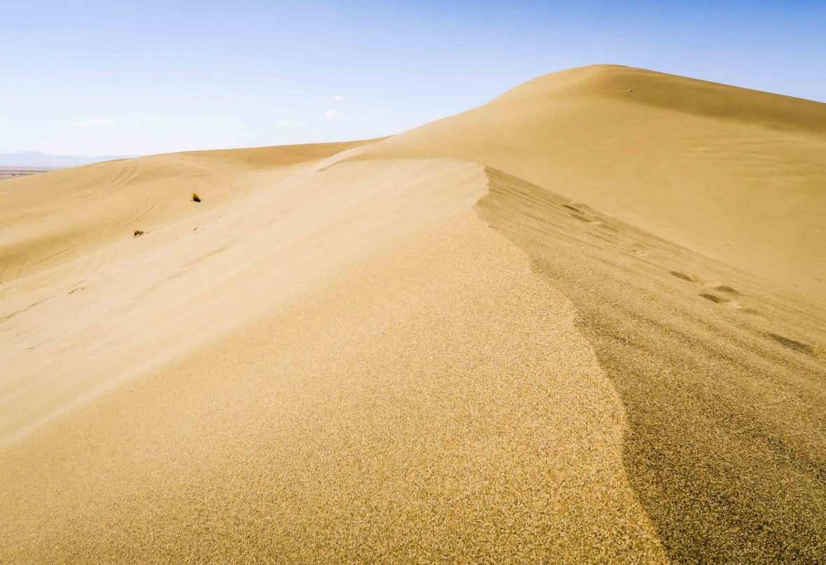 The sand dunes of Varzaneh.