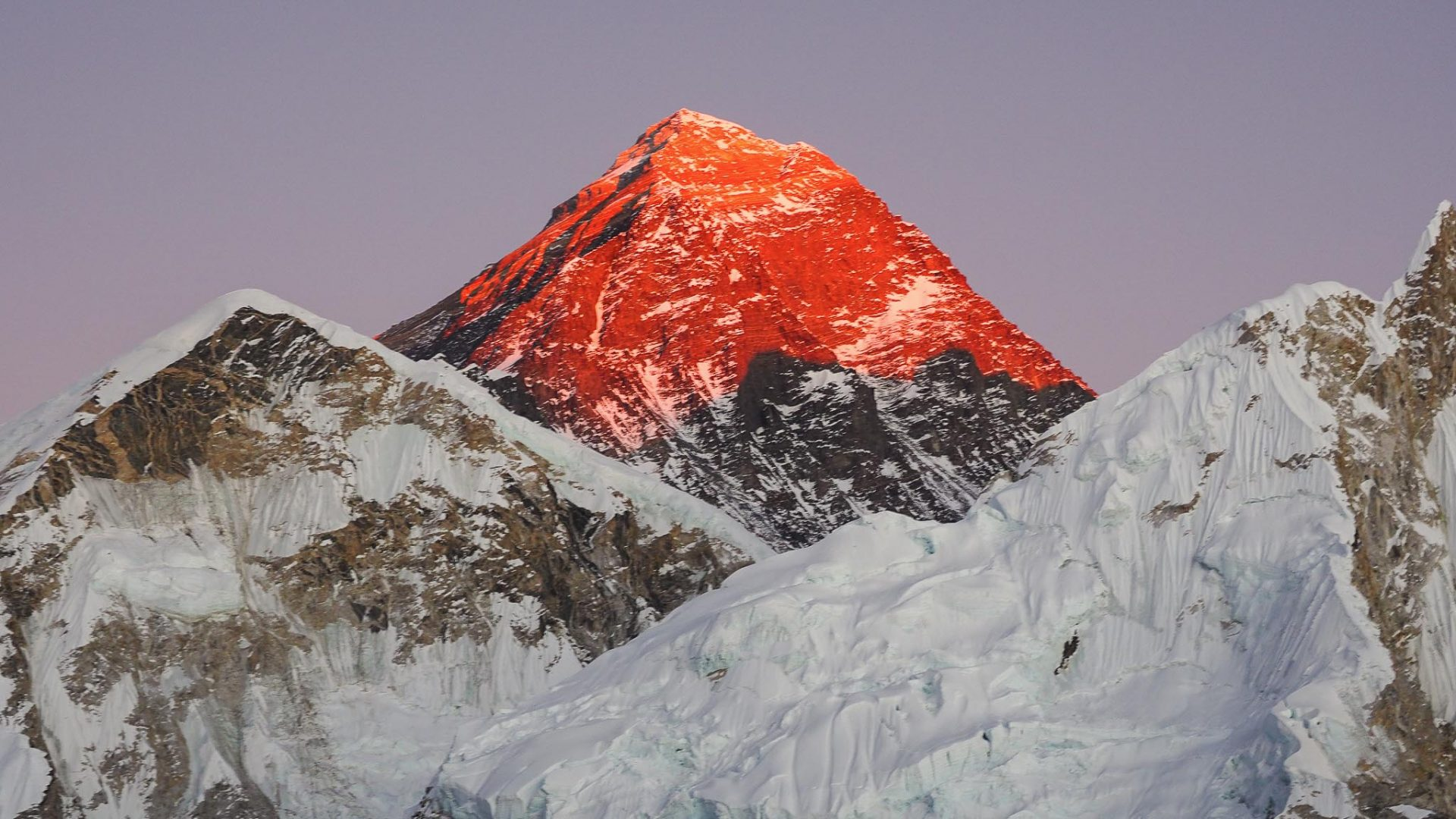 It's worth the hike up Kala Patthar at sunset for the amazing view of Mount Everest.