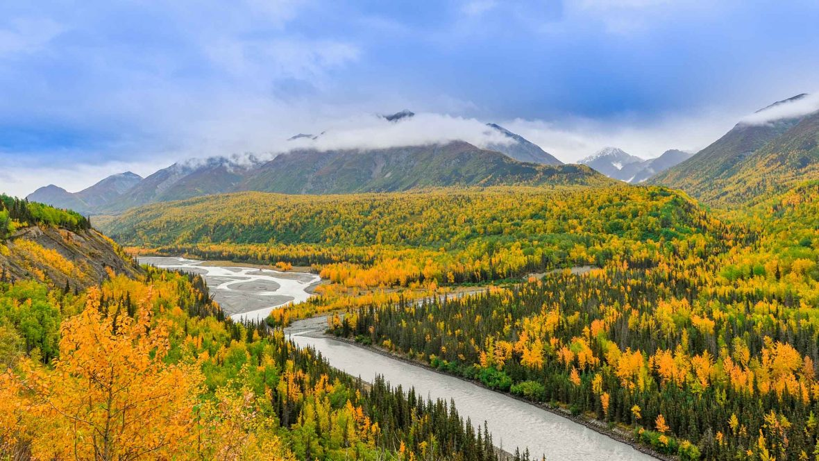 The bright valleys surrounding Anchorage, Alaska's largest city, lies right on a fault line.