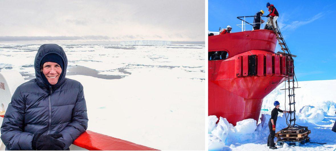 Dr Joan Louwrens in Antarctica.
