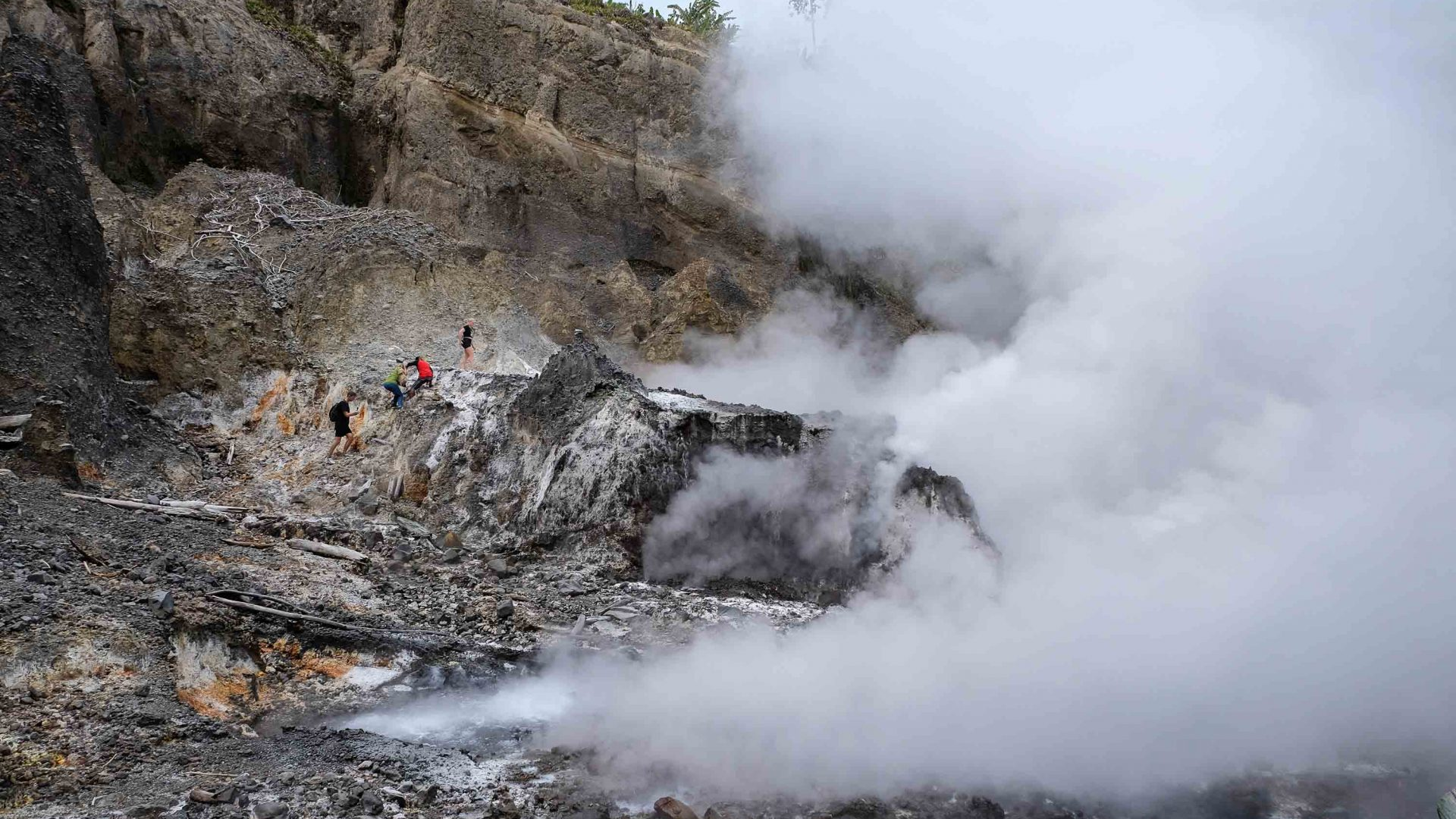 How a volcanic eruption saved a tiny Indonesian island (from itself)