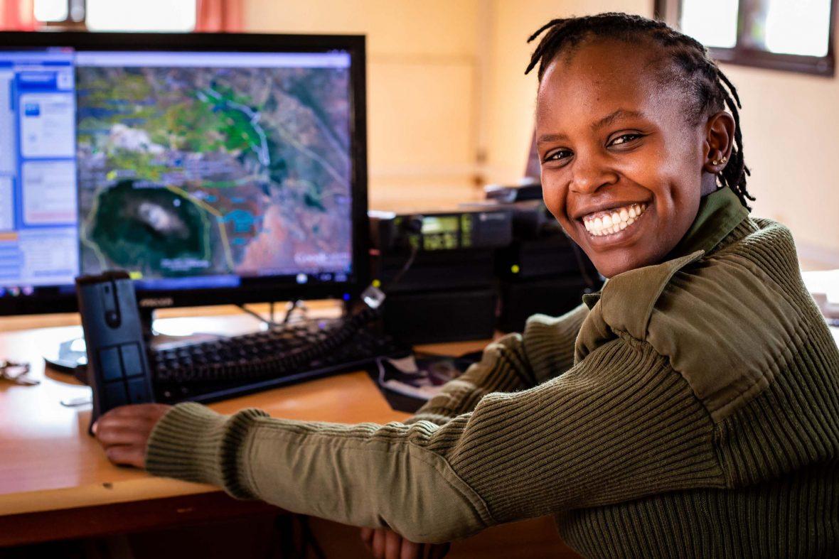 Annie Maloi, one of Kenya's first female rangers.