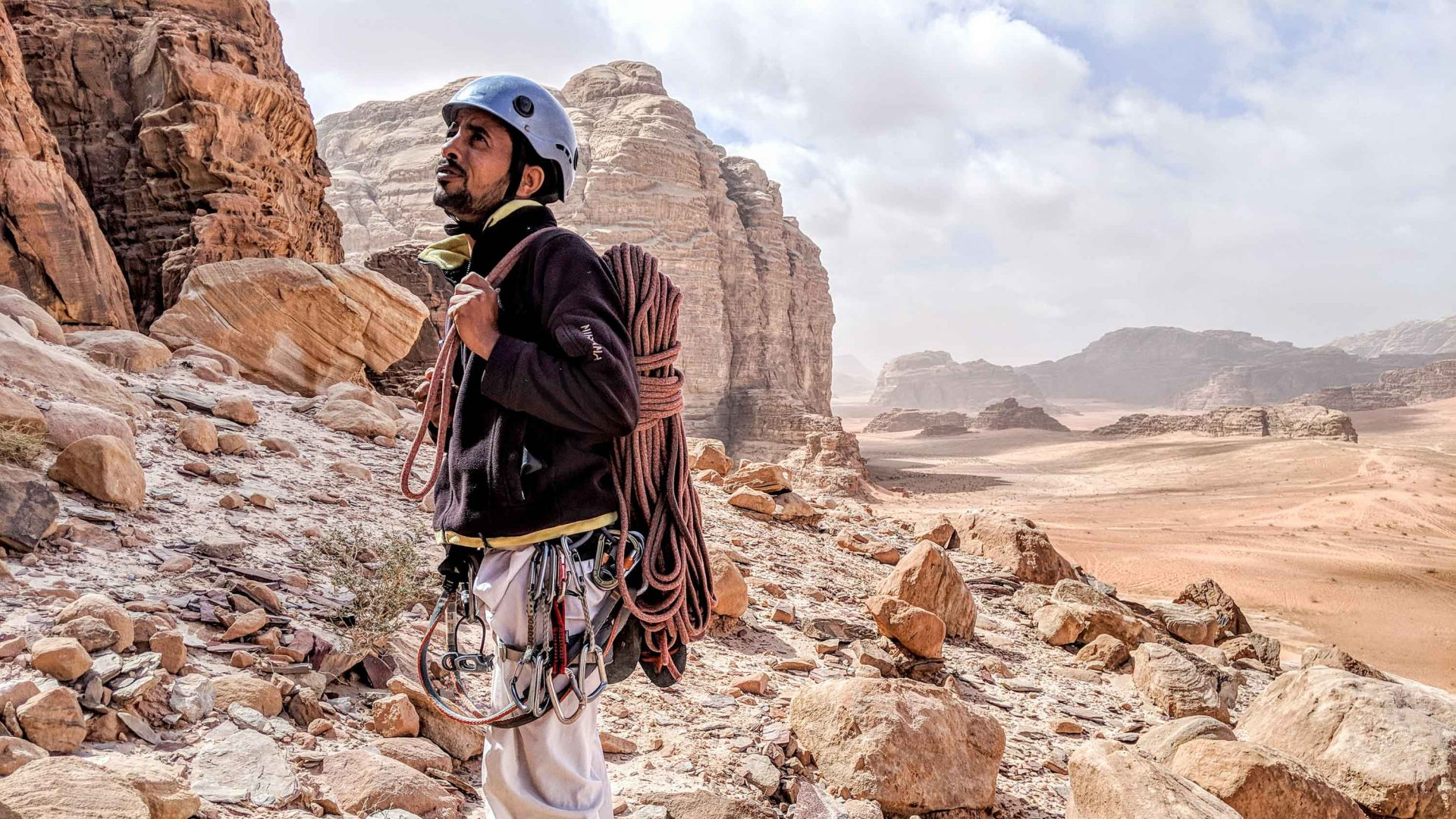 Hardly anyone goes rock climbing in Wadi Rum, which is why you should