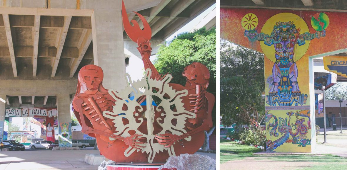 Mexican-inspired art at Chicano Park in San Diego, California.