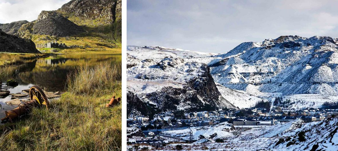 From warm light to snow, and mining to adventure, Blaenau Ffestiniog has undergone something of a transformation.