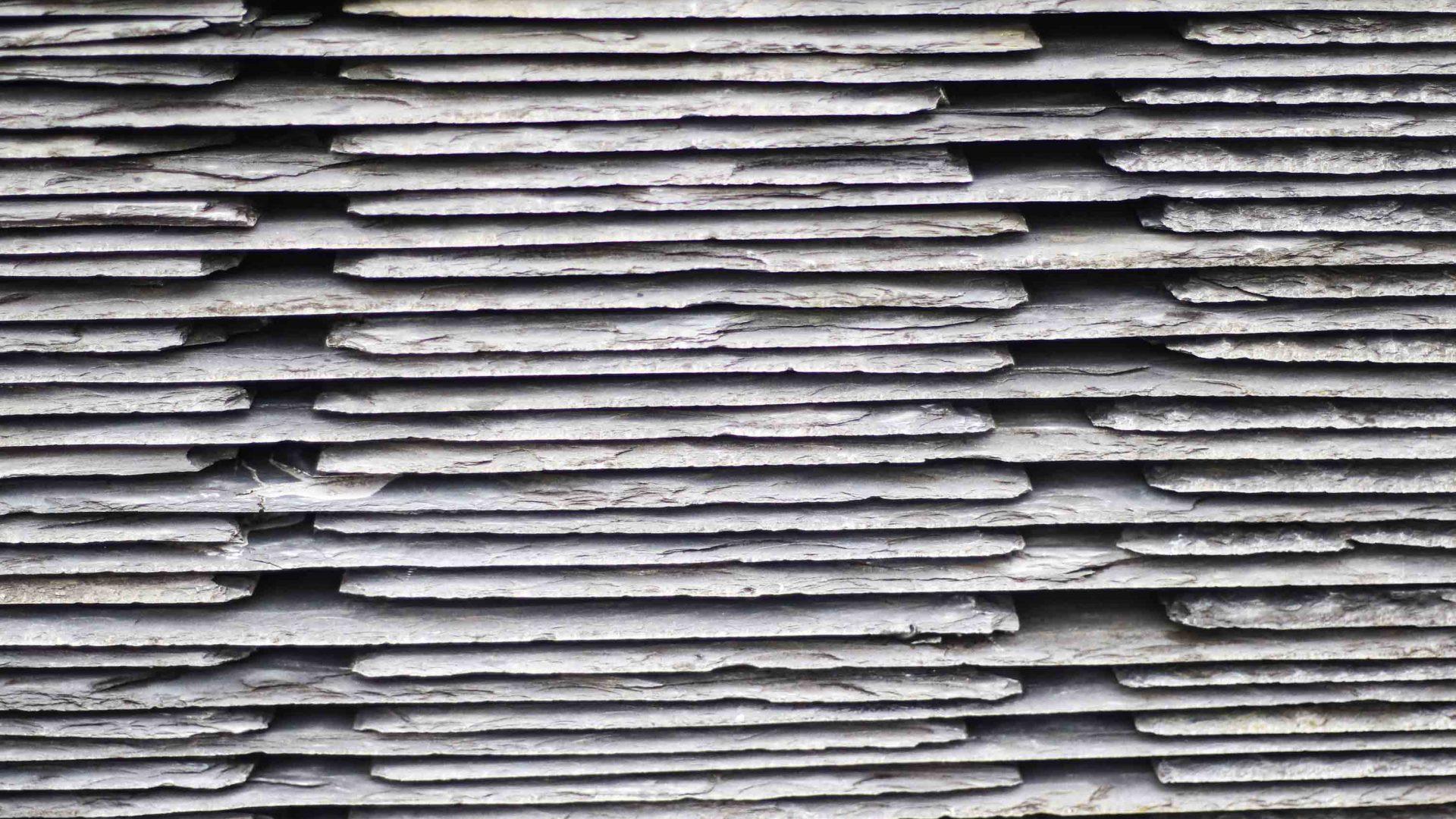 Slate stacked up in Blaenau Ffestiniog.