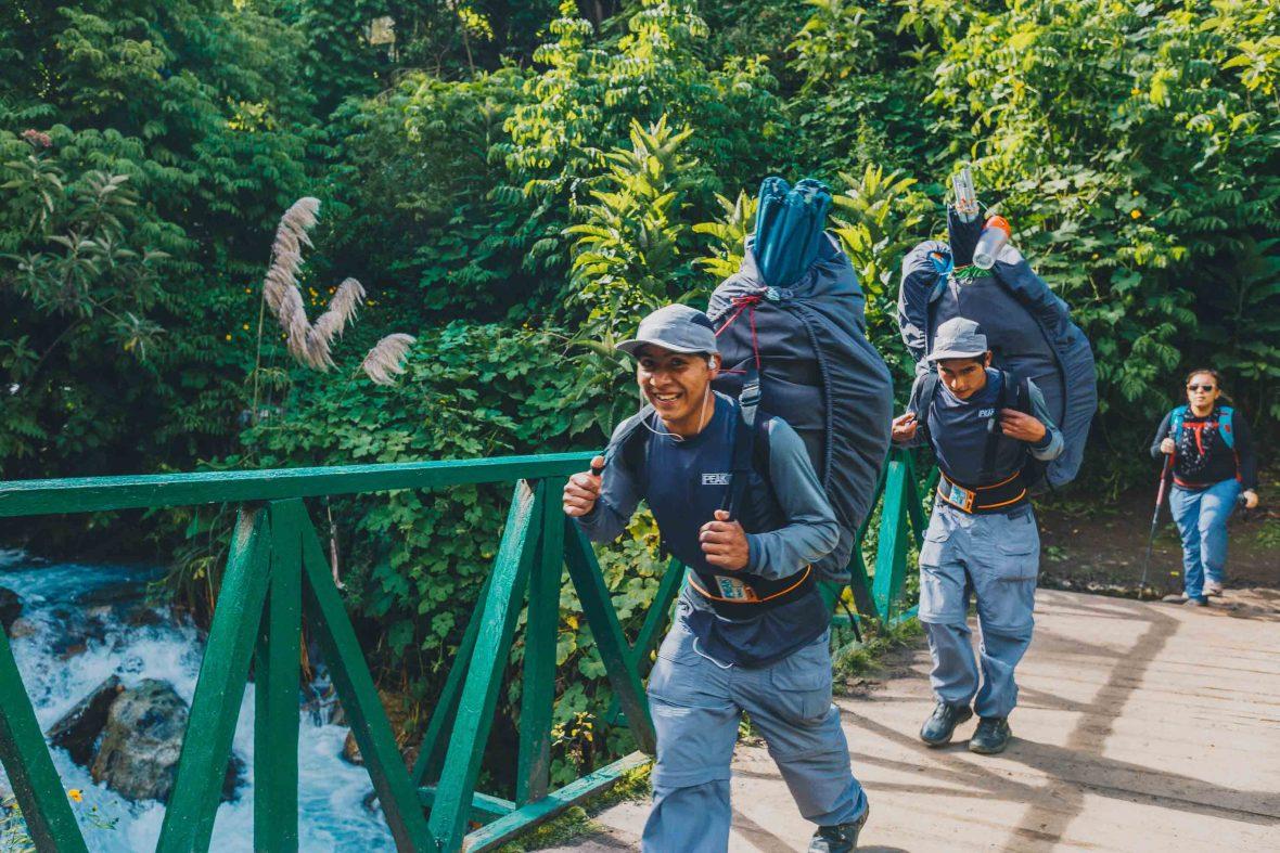 Porters on the Inca Trail in Peru.