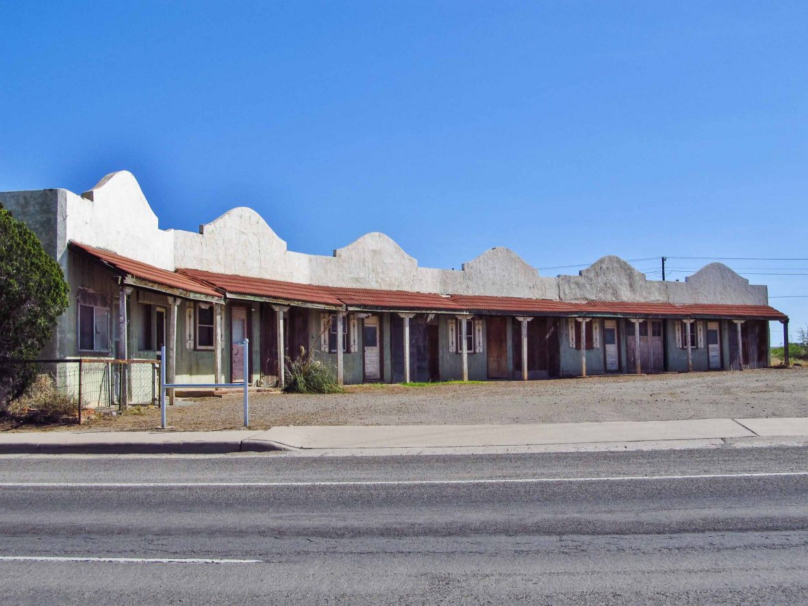 An empty motel in Lordsburg, New Mexico.