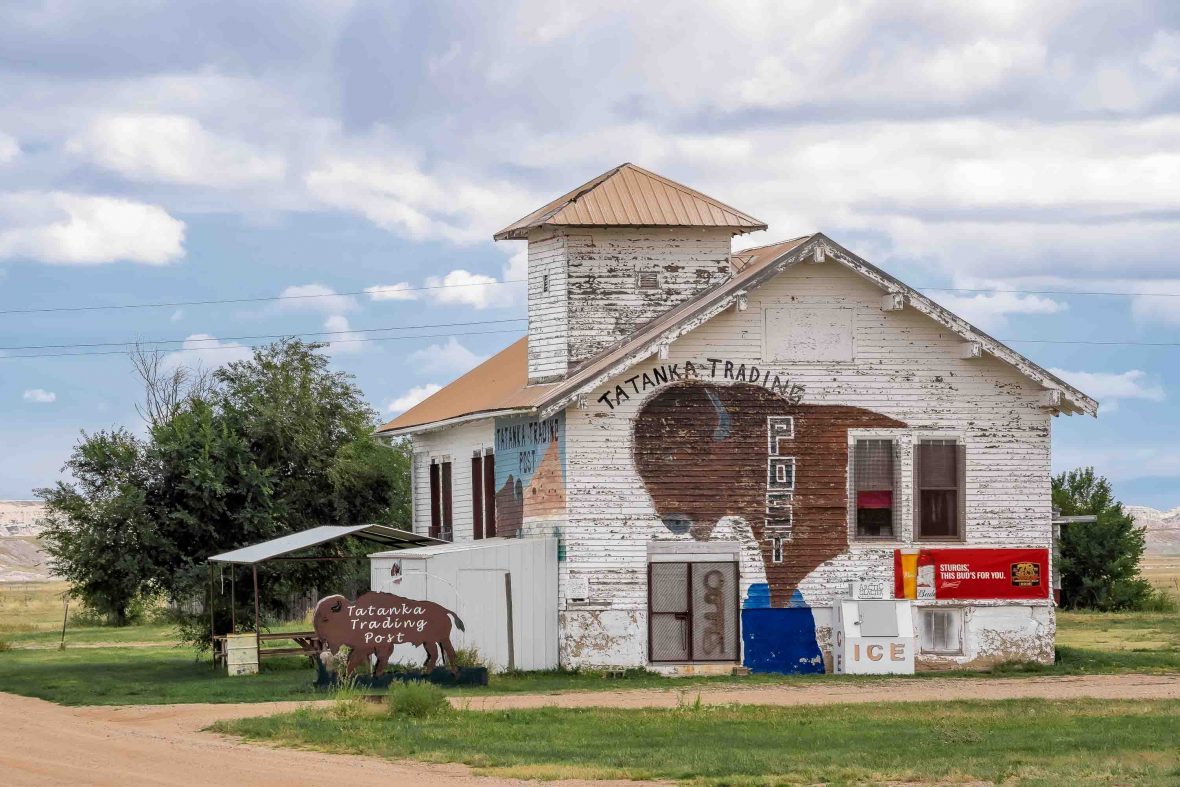 The trading post in the town of Scenic in South Dakota, USA.