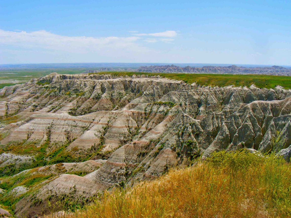 Scenic was historically a stopping point between the South Dakota Badlands (pictured) and Rapid City. But a new highway built to bypass the town gave many residents little reason to stay.