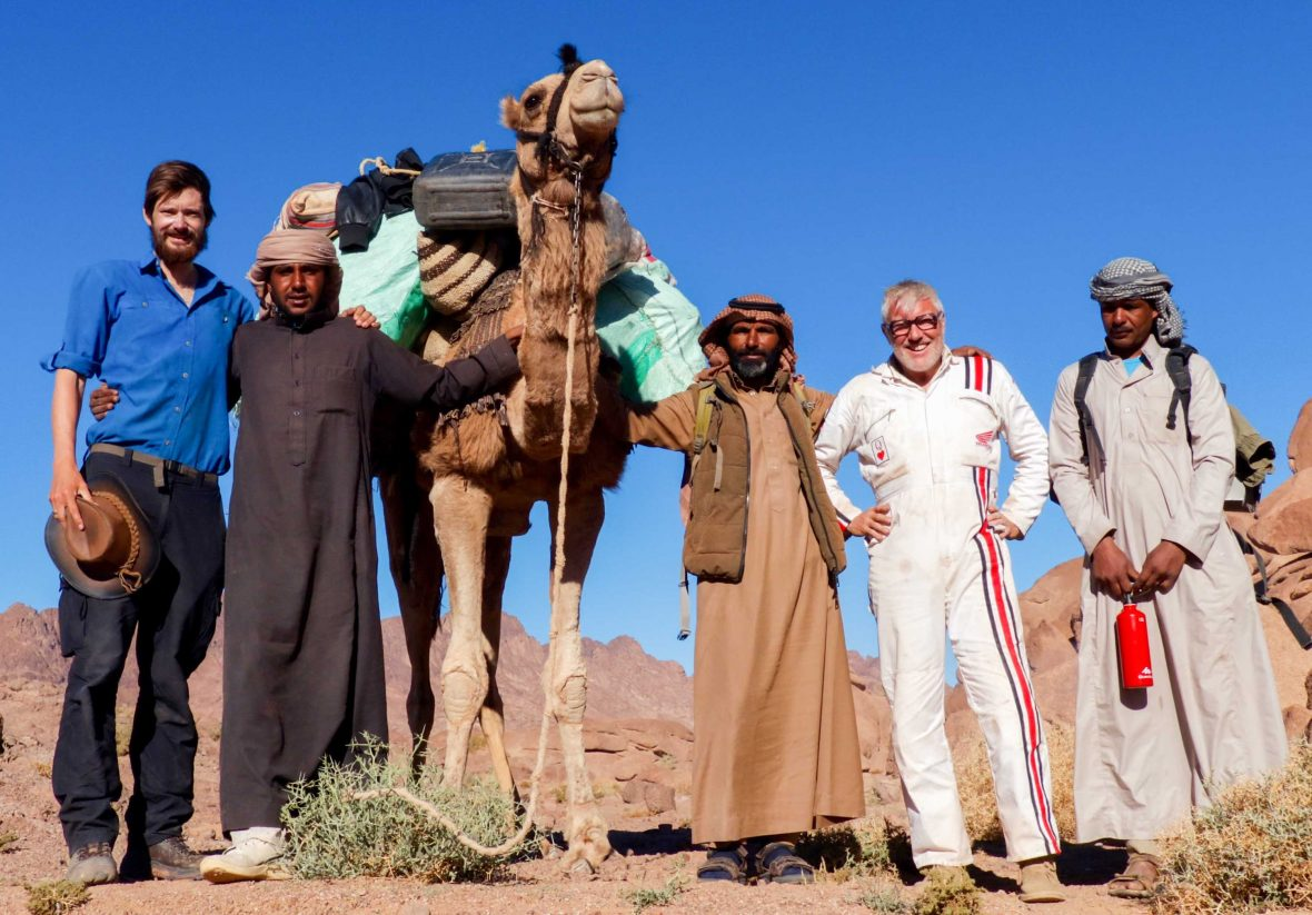 At the end of a 1,600-kilometer hike, Leon McCarron says these are the people you want to cross the Sinai with—Bedouin guides, a pack camel, and his friend, filmmaker Austin Vince.
