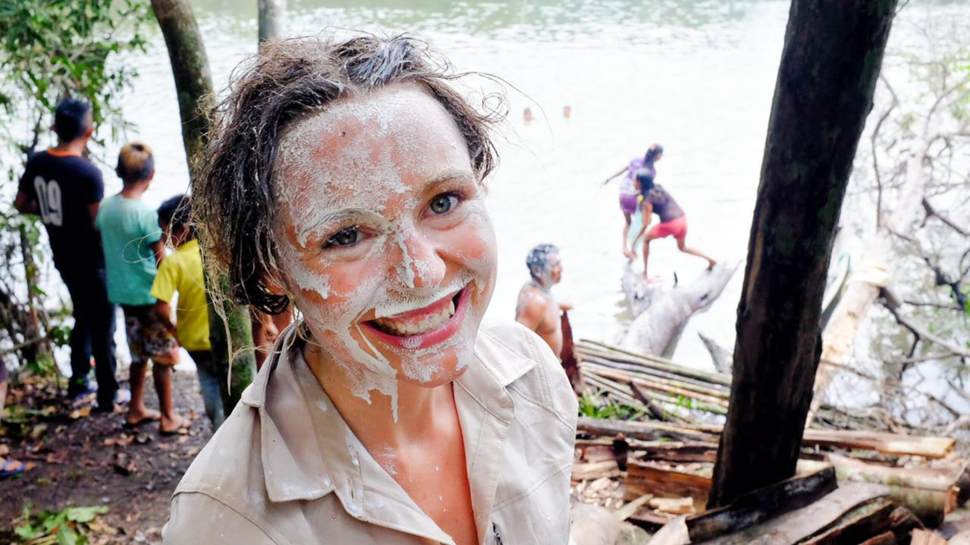 Pip takes part in the annual fishing ritual of the Munduruku tribe in Brazil.