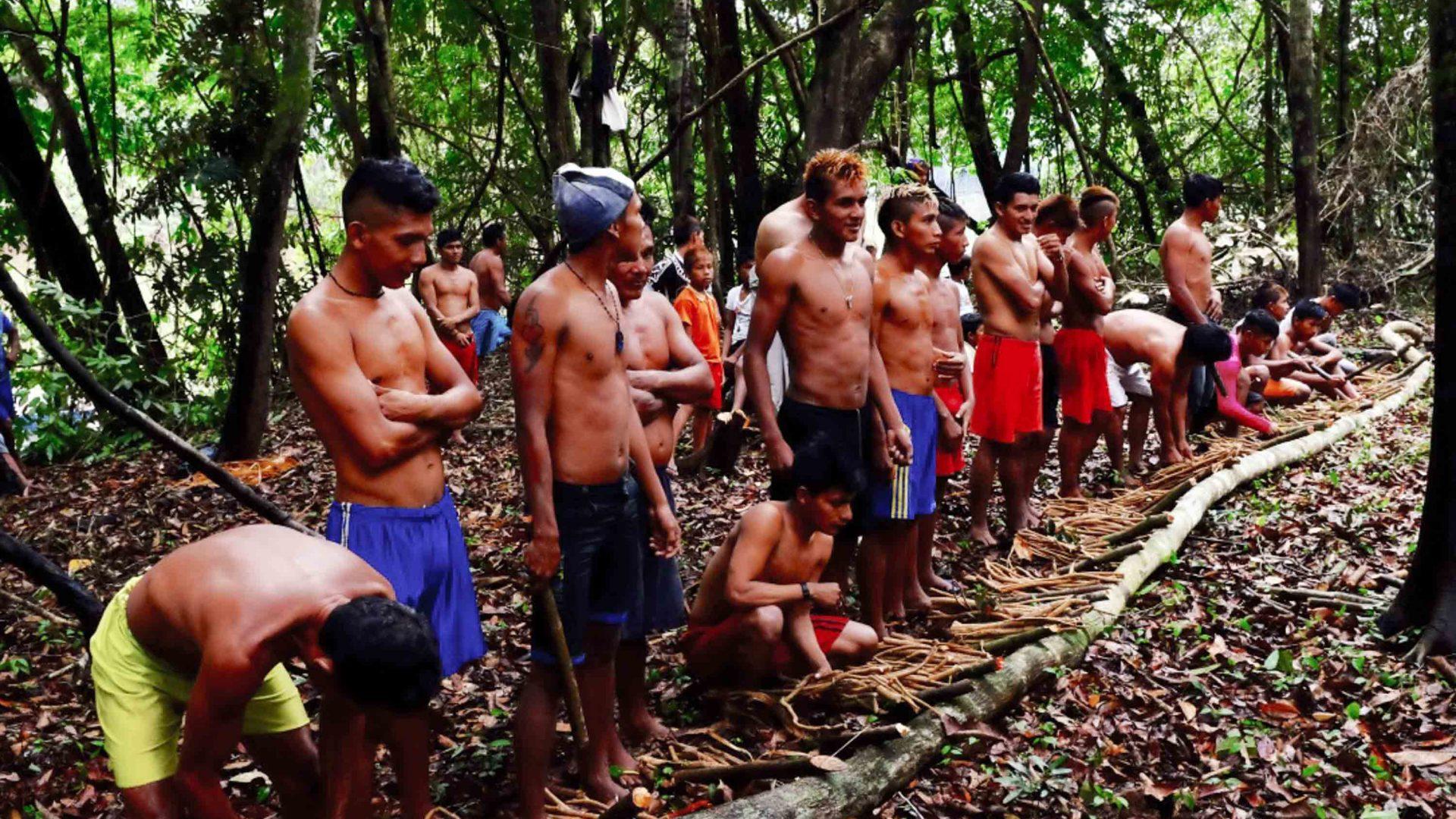 Reza Pakravan takes part in the Munduruku tribe's annual fishing ritual.