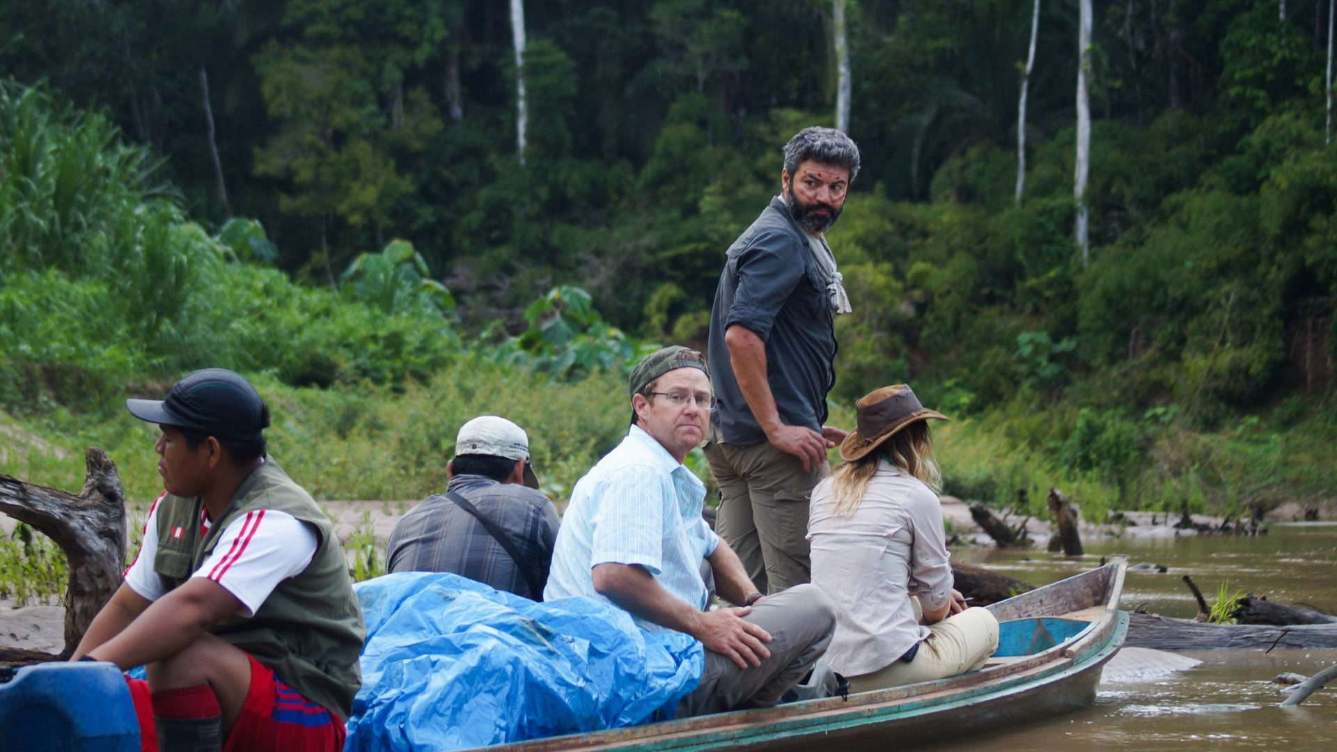 Reza and Pip in the Yurua and Alto Purus region in the Peruvian Amazon, home to some of the world's last isolated tribes.