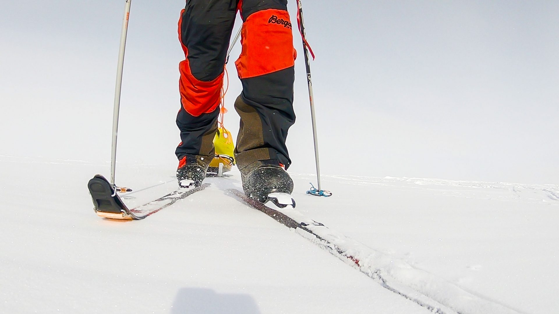 Colin O'Brady's custom-made skis for his unsupported journey through Antarctica.