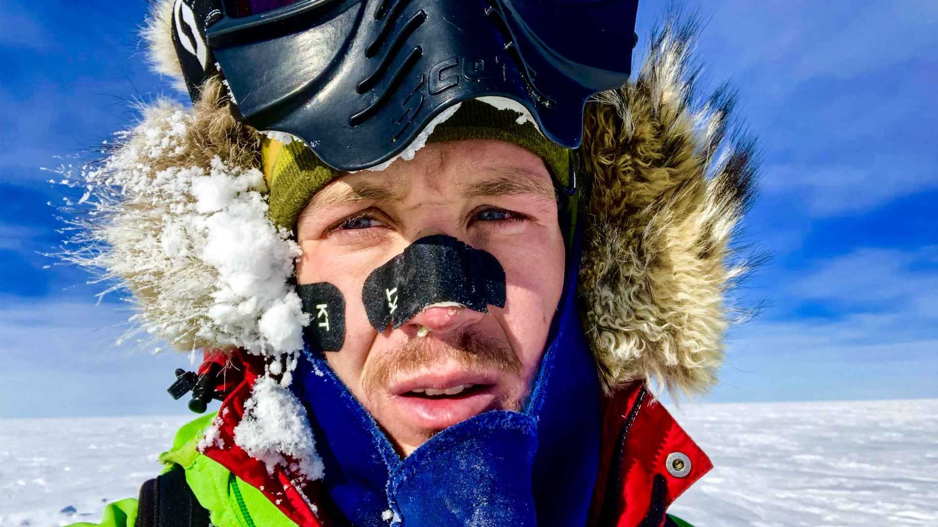 Colin O'Brady during his unsupported Antarctic journey.