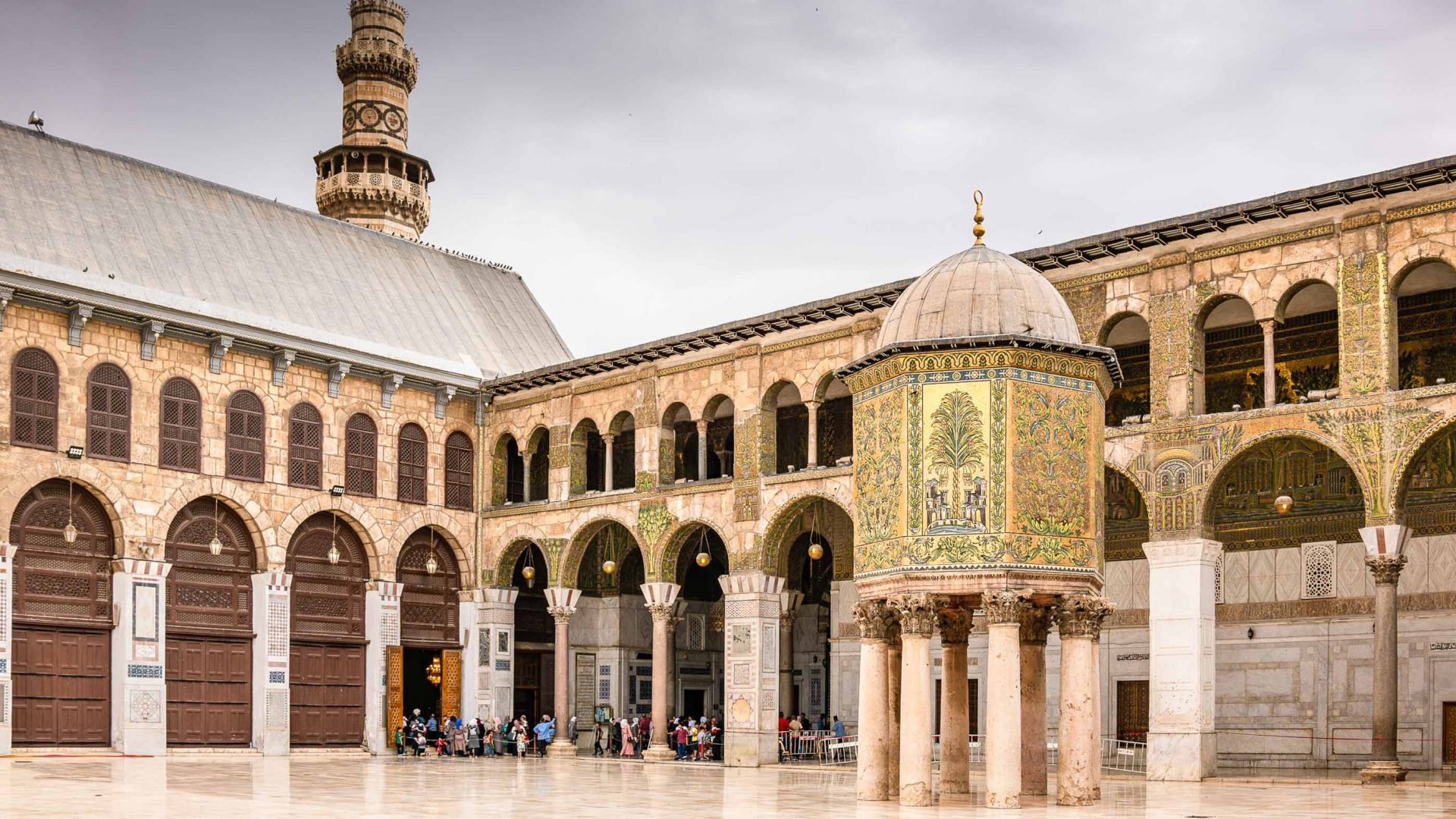 The Umayyad Mosque in Damascus was virtually unscathed by the conflict.