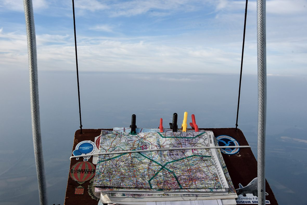 Konyukhov's view for the duration of his 268-hour and 20-minute round-the-world balloon expedition.