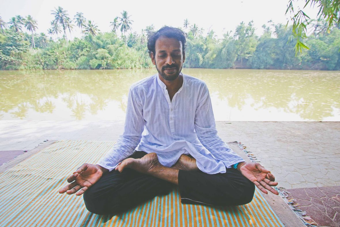 Meditation is an important part of the Ayurveda practice carried out at Mekosha retreat in Kerala.