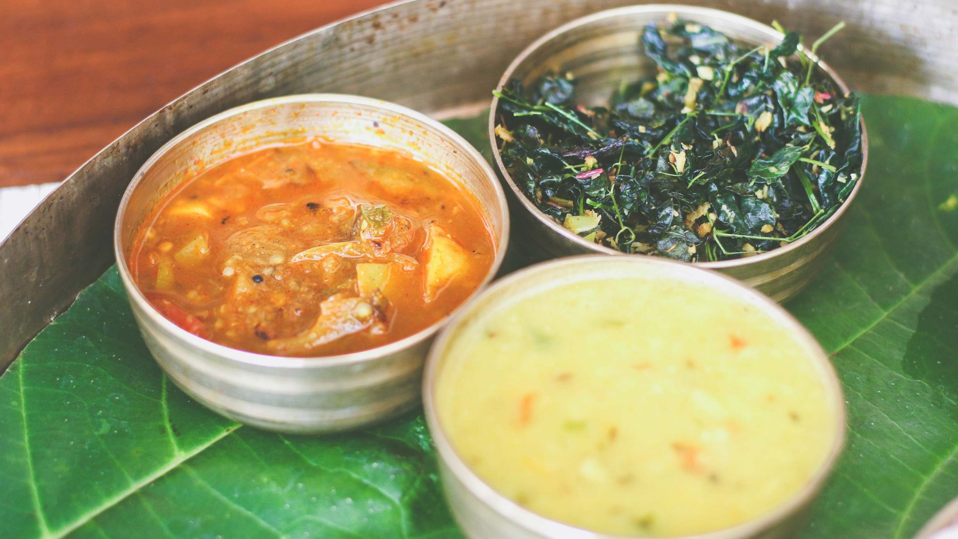 Indian meals consistent with an Ayurveda diet.