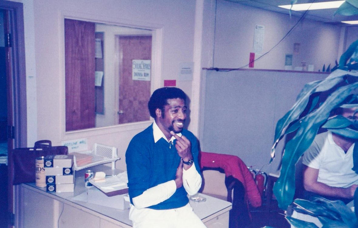 Ken Jones at the San Francisco AIDS Foundation in the early 1980s.
